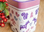 Puszka świąteczne pierniczki fiolet