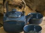 Zestaw ceramiczny do herbaty Indygo