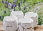 Zestaw ceramiczny do herbaty Marmur