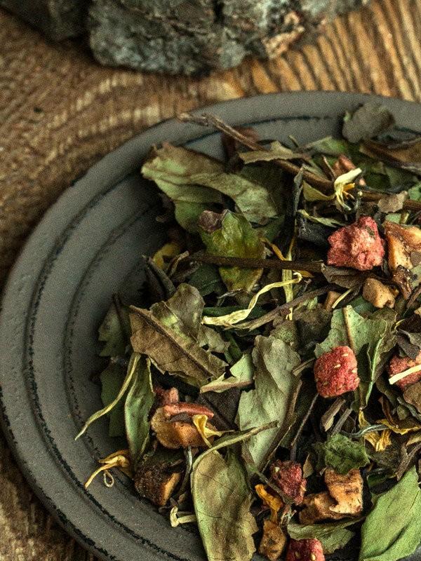Herbata biała - Aloes - Truskawka