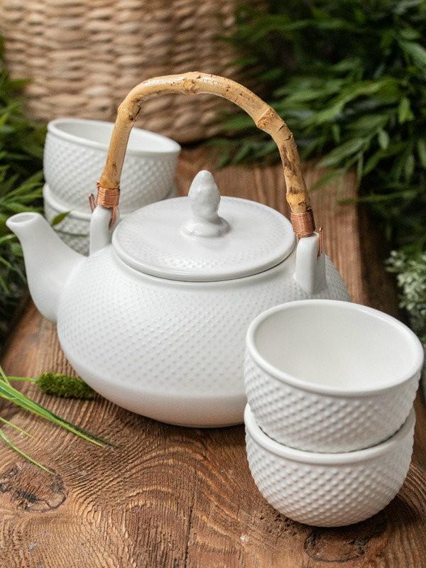 Zestaw porcelanowy  do parzenia herbaty TAMARI